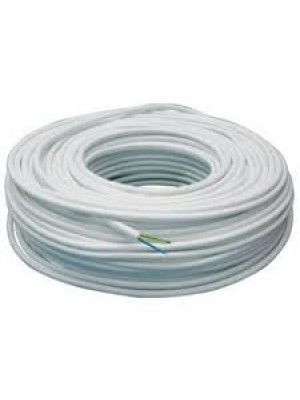 Kabelis baltas apvalus 3x2.5 (100 m)
