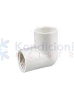 Kondensato plastikinio vamzdžio 16 mm alkūnė 45