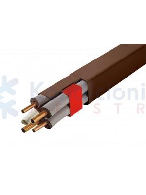 Plastikinis PVC kanalas rudos spalvos 80x60